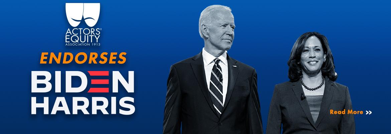 Actors' Equity endorses Biden/Harris