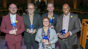 2018 – Damron Russel Armstrong, Cynthia Levin, Rob Lindley, Doug Peck and Robert Schleifer